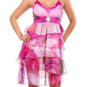 Brand new chiffon sun dress